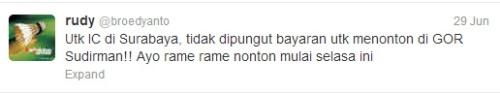 Twitter Koh Rudy Soal Harga Tiket Indonesi ic